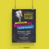 live music poster Design Services in mohali