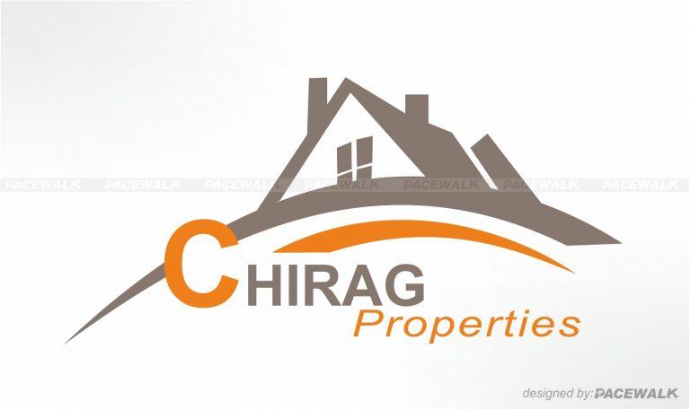 Chirag Properties Logo Design