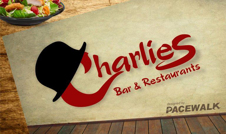 charlie bar & restaurants- logo design bathinda chandigarh ludhiana patiala mohali amritsar faridkot kotkapura ferozepur jalandhar punjab india | pacewalk