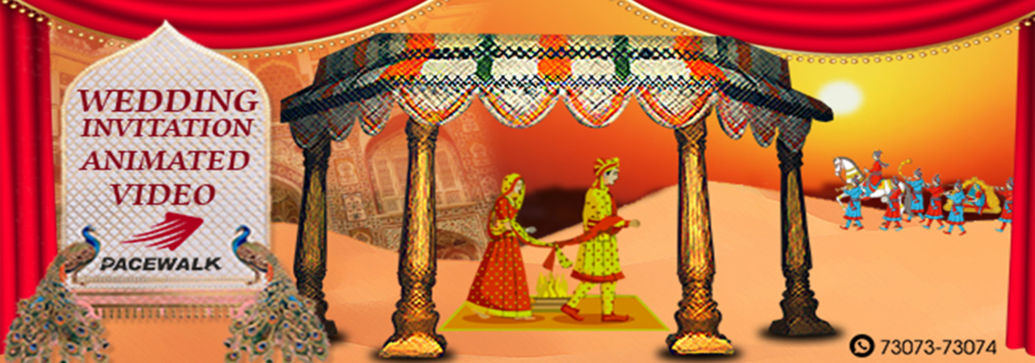 Rajasthani Wedding Invitation Animated Video