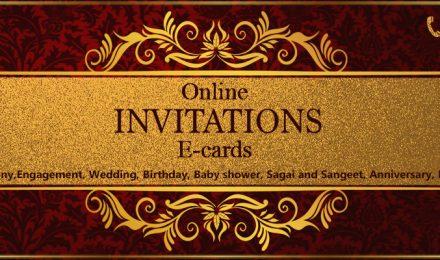 On online digital paperless invitation e-cards design company