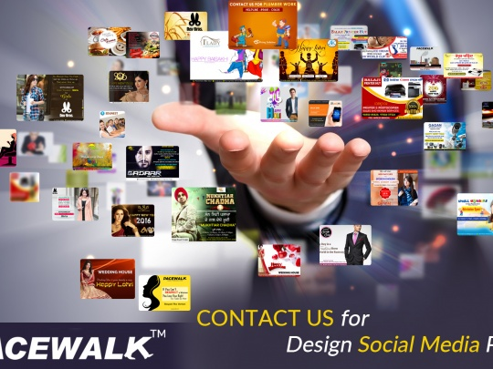 Social Media Facebook Posts Designing Pacewalk Bathinda