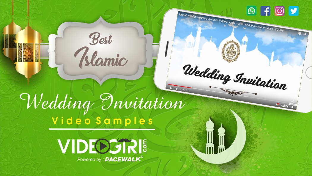 Best Islamic Wedding Invitation Video Templates