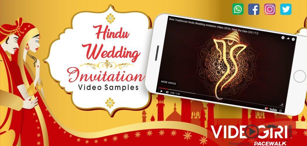 Best Hindu Wedding Invitation Videos Samples
