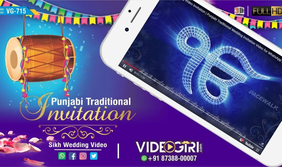 Sikh Wedding Invitation Sample Videos For whatsapp