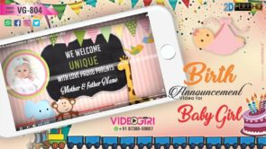 Birth Announcement Video Sample For Baby Girl / Boy