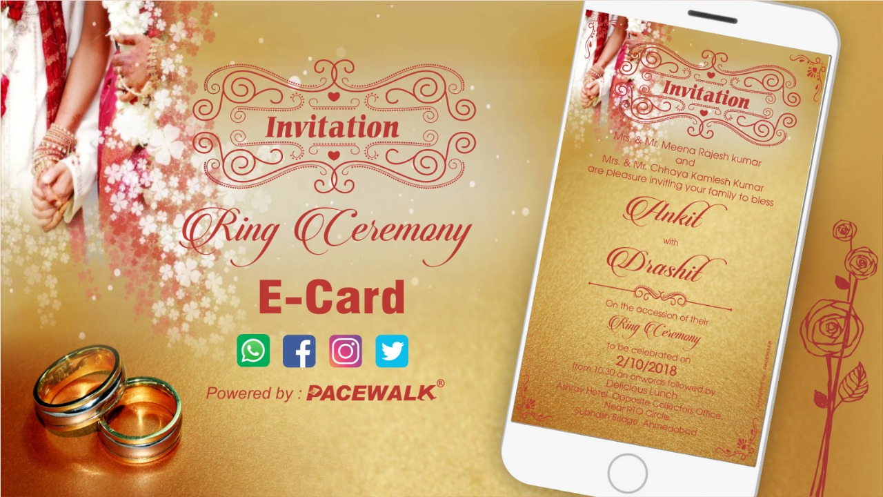Best Ring Ceremony Invitation Video Samples 2020