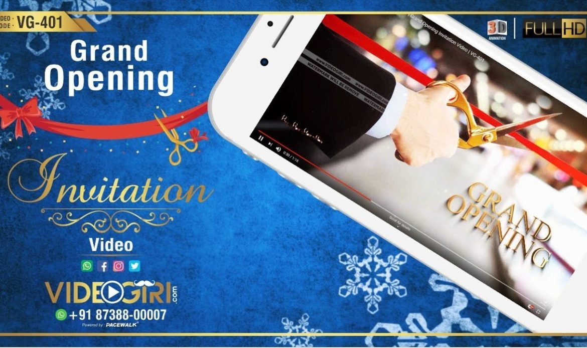Shop Opening Invitation Video | Grand Opening Invitation Video