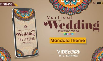 Vertical Wedding Invitation Video Samples
