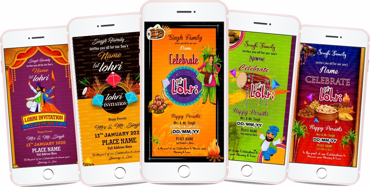 Lohri Invitation ecard