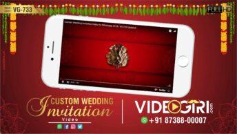 custom wedding invitation video for whatsapp