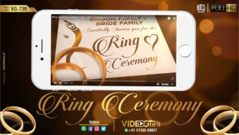 Ring Ceremony invitation video