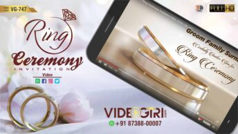 Custom Ring Ceremony Invitation Video