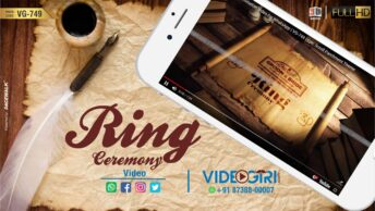 Engagement Invitation Video Epic Scroll Parchment Theme