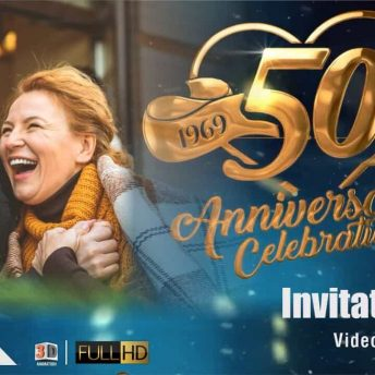 50th Wedding Anniversary Invitation Video