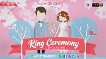Modern 3D Ring Ceremony Invitation Video