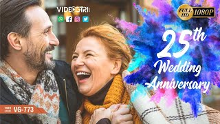 25th Wedding Anniversary Invitation Video