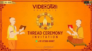 Thread Ceremony Invitation Video