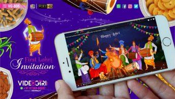 First Lohri Invitation Video for WhatsApp