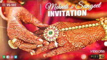 Ladies Sangeet Mehndi Ceremony Invitation Video