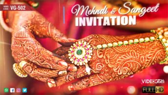 Ladies Sangeet Mehndi Ceremony Invitation Video
