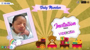 Baby Mundan Ceremony Invitation Video